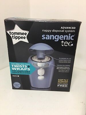 Tommee Tippee Sangenic Baby Nappy Diaper Disposal System with extra refill