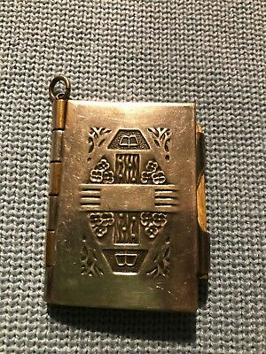 Victorian Jewelry Chatelaine Silver Plate Dance Card Aide Memoir Pad (no pencil)