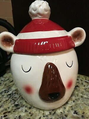 Polar Bear Cookie Jar