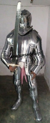Vintage Medieval Authentic Knights Suit of Armour Full German Body Costume