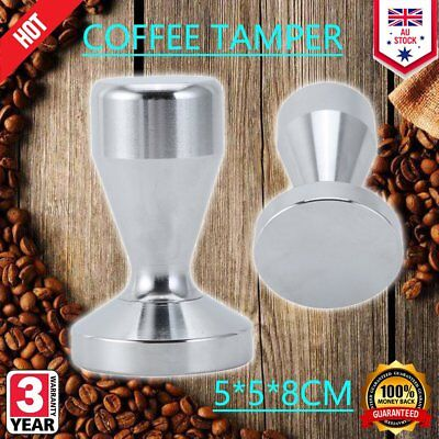 51mm Stainless Steel Coffee Tamper Tampa Tamp Espresso Barista Press Tool Q1Q