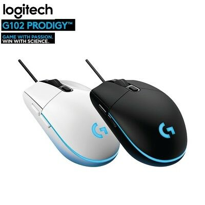 New Logitech G102/203 Prodigy USB Wired Programmable RGB Backlit  Gaming Mouse