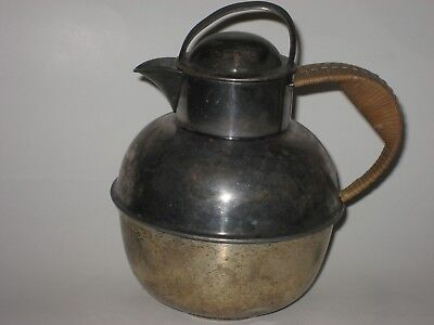 Silver Plate Teapot International Silver Co with Wrapped Handle EGW&S Vintage