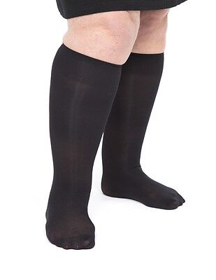 "Big Knee Highs in colours. Plus Size for thick legs 20"" calf deep comfy welt"