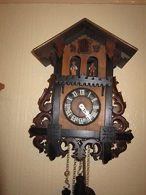 Antique Cuckoo Clock ,Bahnhausle weatherhouse , circa 1900, by Gordian Hettich.