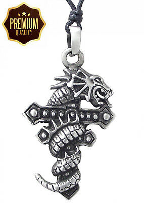 Llords Jewellery Medieval Punk Gothic Dragon Cross Necklace Pendant, Fine...