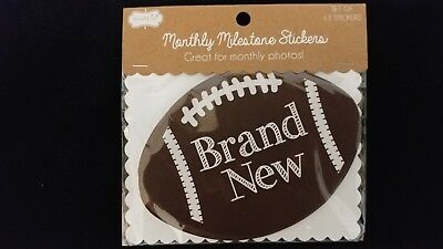 Mud Pie  Football Milestone Stickers  Set of 13 - DISCONTINUED