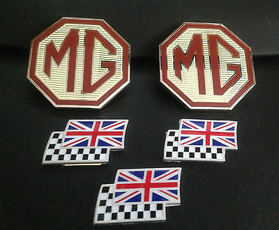 MG ZR mk1 badge upgrade front grille, rear & 3 chequerred and union jack flags