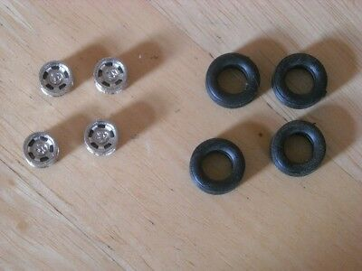 1/43rd scale  Chromed Wolfrace wheels by K&R Replicas