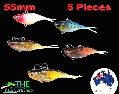 "2"" Soft Plastic Vibe Freshwater Fishing Lures Redfin Bass Bream Trout Flathead 2"