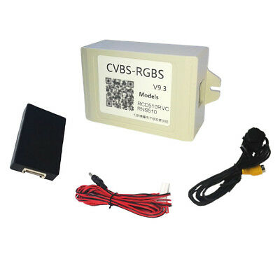 Rear view Camera CVBS To RGBS Converter Adapter For VW RNS315 RNS510 RCD510