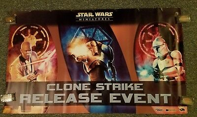 STAR WARS Miniatures Minis Clone Strike Release Event Poster 2004 SAME DAY SHIP