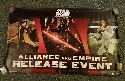 STAR WARS Miniatures Minis Allies and Empire Release Event Poster 2007
