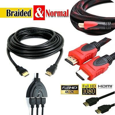 PREMIUM HDMI 4K UltraHD Cable v2.0 0.5M/1M/1.5M/2M-5M High Speed  2160p 3D Lead
