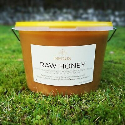 4.2 kg ORGANIC Forest Flower HONEY 100% PURE RAW NATURAL 2019 unpasteurized