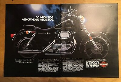 Vintage 1983 2 Page Harley-Davidson Motorcycle Magazine Advertisement