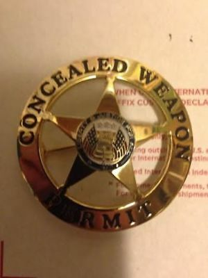 CONCEALED WEAPONS PERMIT DECORATIVE BADGE ONLY GOOD FOR Christmas COLLECTING