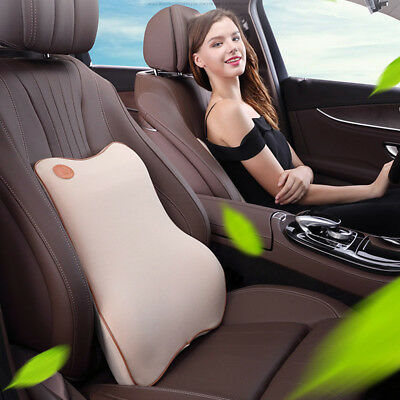 Car Seat Back Lumbar Waist Pillow Support Cushion Chair Memory Foam Breathable