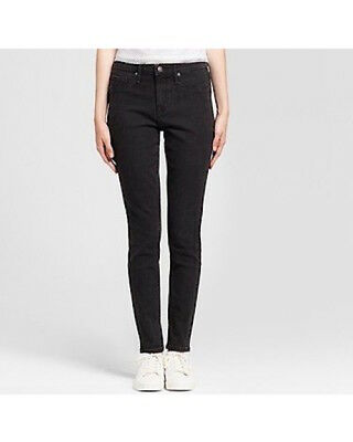 NEW! Mossimo Women's Jeans Core High Rise BLACK Jeggings -LONG- STRETCH