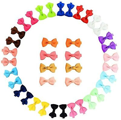 YHXX YLEN 20Pcs Small Baby Hair Bows Ribbon Clips for Girls Toddlers Kids... New