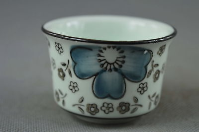 Collectable Chinese Style Porcelain Paint Beauty Flower Souvenir Lucky Bowl Gift