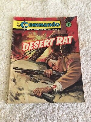 Very Early  Commando Comic Number 200