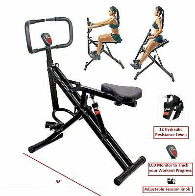 Total Crunch AB Crunch Horse Horse Rider Gym + Monitor Exercise Cardio Fitness