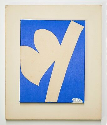 Adja Yunkers: Untitled (White on Blue),1970. Signed, Numbered, Fine Art Multiple