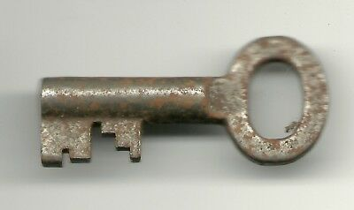 Antique Skeleton Key Genuine Old Small Ornate Fancy Real Steampunk 1 3/8 inch