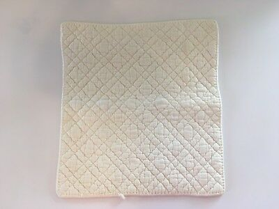 RARE Vintage 1950's Quilted Cotton Baby Lap Pad 14'' x 15'' White Newborn Diaper