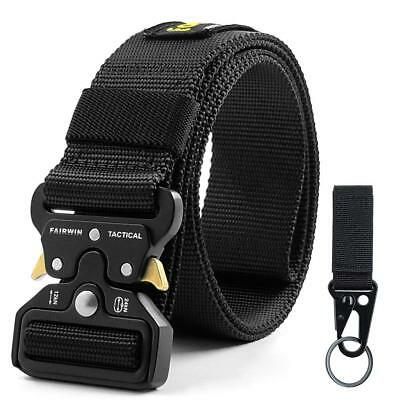 Fairwin Tactical Belt for Men, Military Style Nylon Web Belt with Heavy-Duty Qui