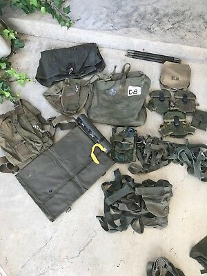 Vietnam War era Gear, Canvas Items, Pouches, And More Lot 22 Items