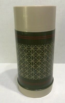 "Vintage Murphy's Thermos Bottle by Aladdin Green w/Tan 7.5"" tall"