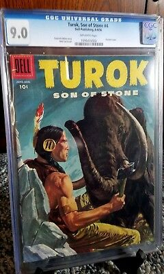 Turok Son of Stone #4 (1956) CGC 9.0, Painted Cover
