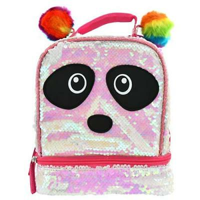 Magic Sequin 2 Way Panda Critter with Rainbow Pom Lunch Box