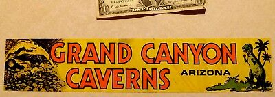 GRAND CANYON CAVERNS PEACH SPRINGS ARIZONA BUMPER STICKER ON ROUTE 66 vintage