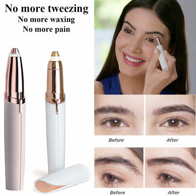 Flawless Women's Brows Painless Trimmer Electric Eyebrow Hair Removal LED Light