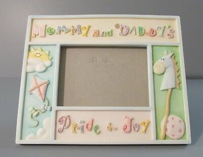 "Russ Berrie Sweet Beginnings ""Mommy and Daddy's Pride & Joy"" 3-D Photo Frame"