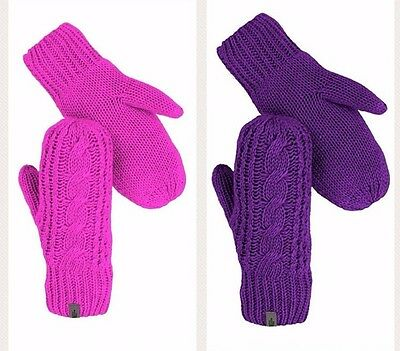$44 NWT THE NORTH FACE Woman Mittens Pink Purple  Small Medium Large X-Large
