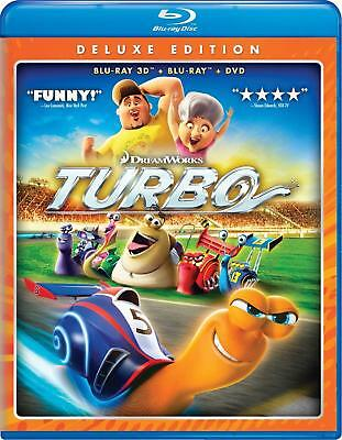 Turbo Deluxe Edition 3D + Blu Ray+ DVD+ Digital HD 3 Box Disks