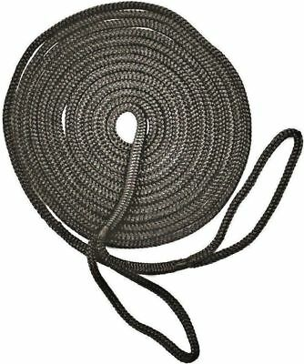 Mooring Rope Kit – 10mm X 6M Black Double Braid Dock Line With Loops