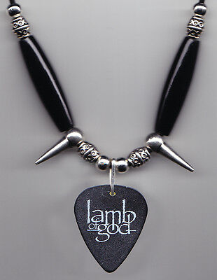 Lamb Of God No Fear Music Tour Guitar Pick Necklace 2009 Tour