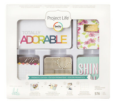 Becky Higgings - Project Life - Prismatic Core Kit - By Heidi Swapp - 576 Cards!