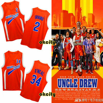 Uncle Drew Movie Kyrie Irving Shaquille O'Neal HARLEM BUCKETS NBA Men Jersey Top