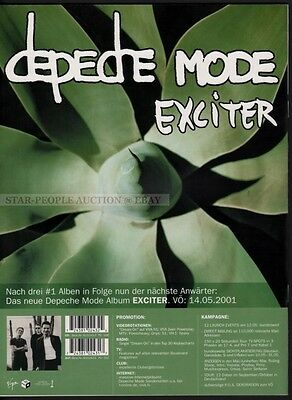 DEPECHE MODE EXCITER on cover of GERMAN MUSIC INDUSTRY MAGAZINE 2001