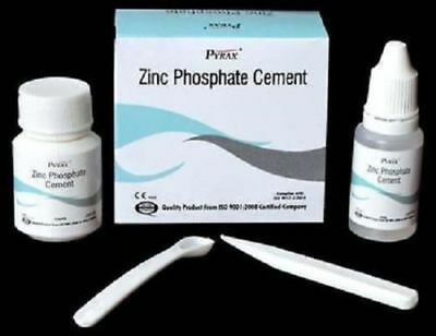 Dental Zinc Phosphate Cement Permanent Tooth Filling Fixation kit by PYRAX F.S