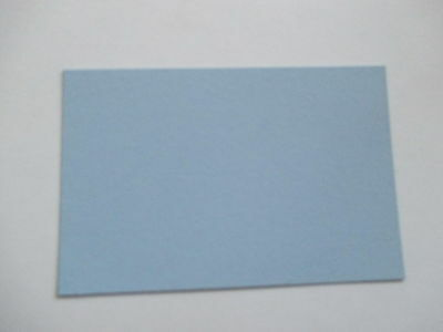 100 Blue  letterpress printers cards. small *
