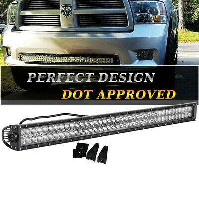 240W 42inch LED WORK LIGHT BAR CURVED COMBO OFFROAD SUV TRUCK DRIVING WIRING KIT