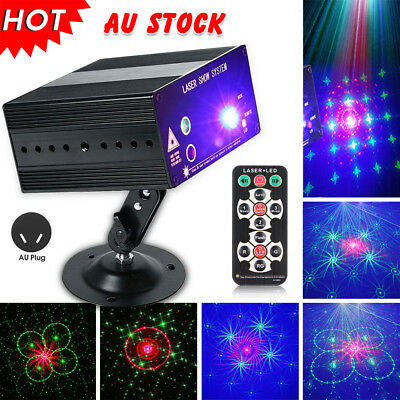 48 Pattern Laser Projector Stage Lights LED RGB Lighting Party DJ Club Disco KTV