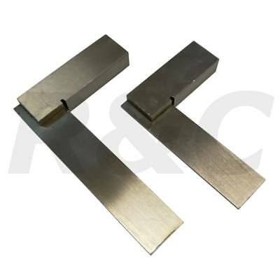 """2pc Engineers Square Set 2"""" 50mm & 3"""" 75mm Small Precision Set Squares Polished"""